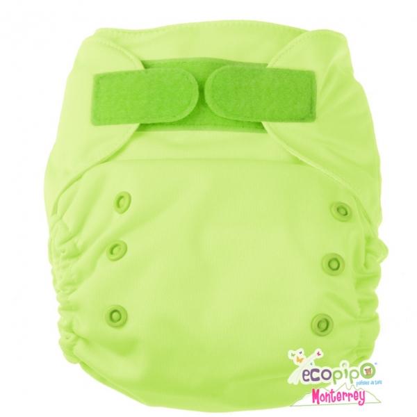Pañal de tela Ecopipo | Liso verde limón
