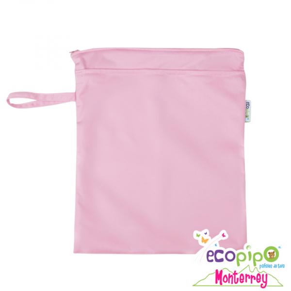 bolsa impermeable chica rosa
