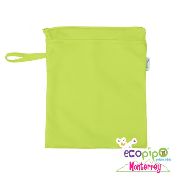 Bolsa impermeable chica verde limón