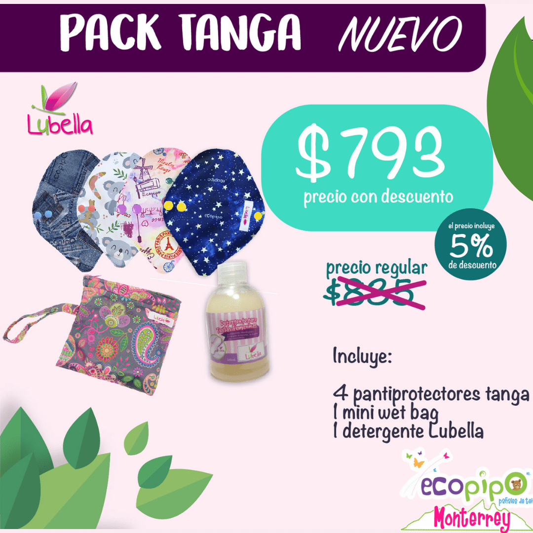 Toallas Femeninas de Tela | Pack Tanga