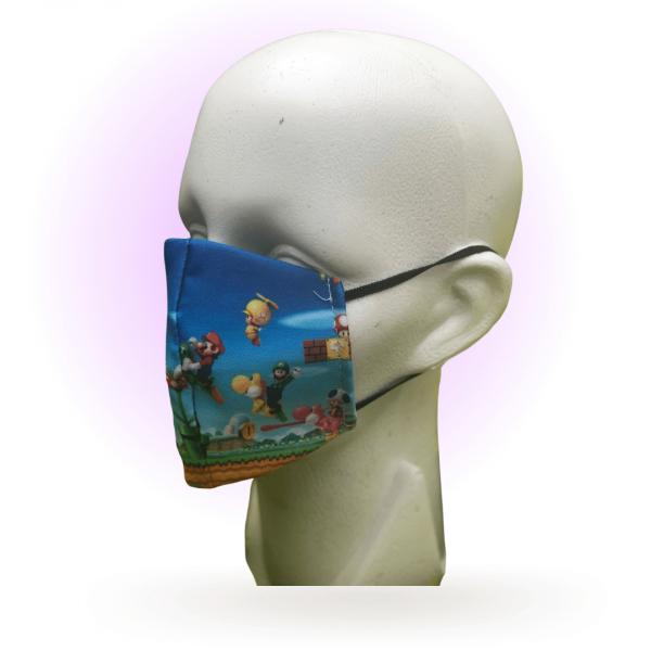 Cubrebocas para niños | Estampado Mario Bros