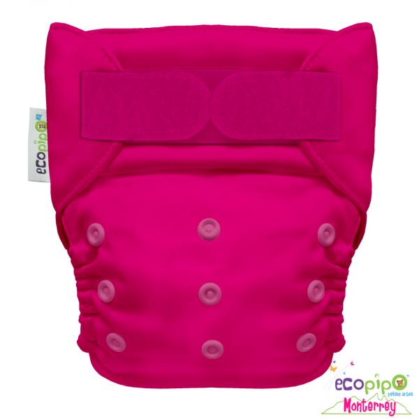 Pañal Ecológico de tela liso color frambuesa