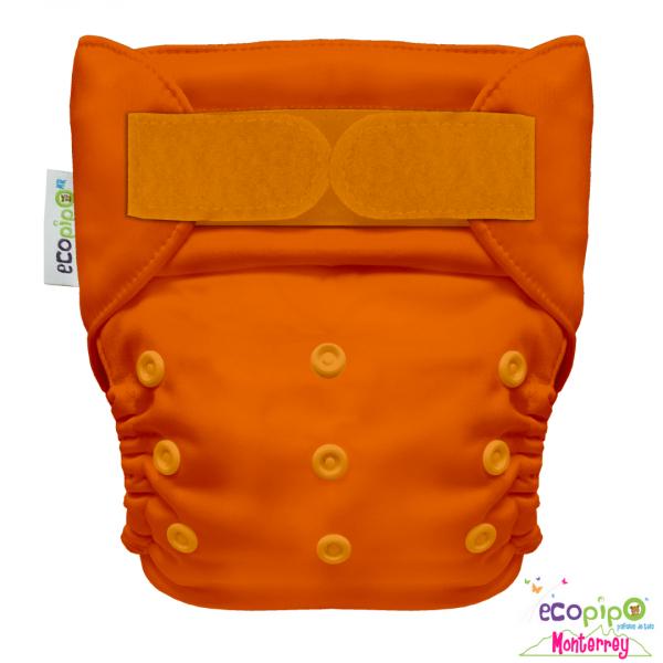 Pañal Ecológico de tela liso color naranja