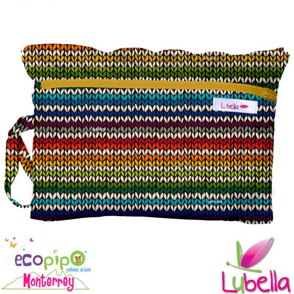 Bolsa para toallas femeninas - crochet